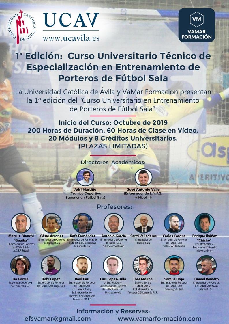 Curso Universitario Técnico de Especialización en Entrenamiento de Porteros de Fútbol Sala